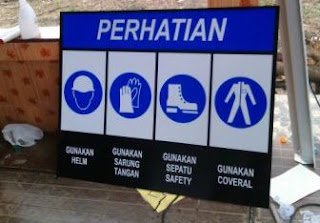 jual safety sign - rambu k3 - pabrik rambu palembang