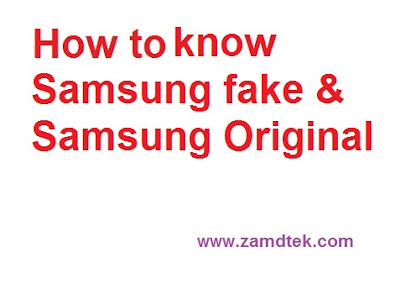 The difference between fake samsung and original