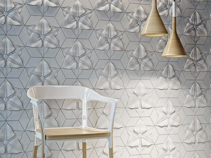 3D decorative wall panels design with creative fiber 2017