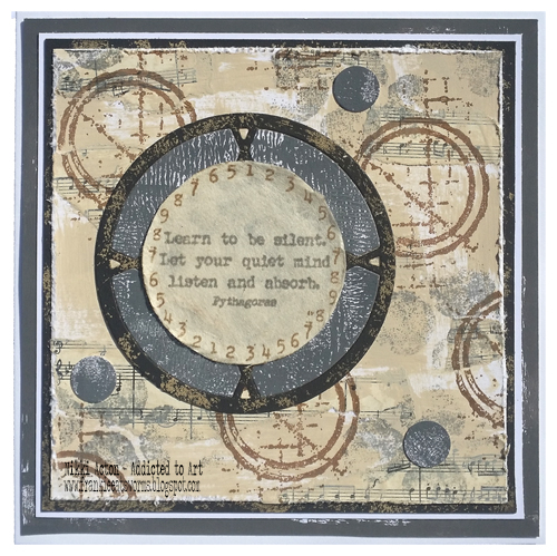 PaperArtsy Eclectica EAB03  Alison Bomber - new stamps - by Nikki Acton