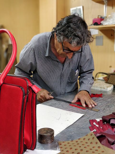 PFP Leather Goods Cyprus - craftsman working