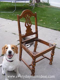 One Foxy Green Chair Diy Tutorial Everyday Mom Ideas