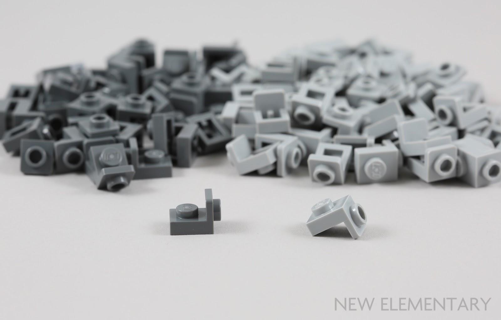 Lego 5 New Dark Bluish Gray Plate 1 x 1 Dot Pieces Parts