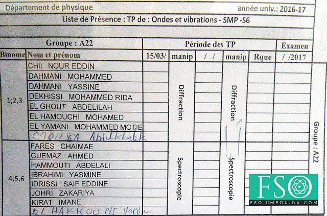 SMP S6 : Groupe A22 TP Ondes et Vibrations