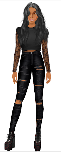 stardoll yeezy top velvet orchid lace arms jacket stacy-g
