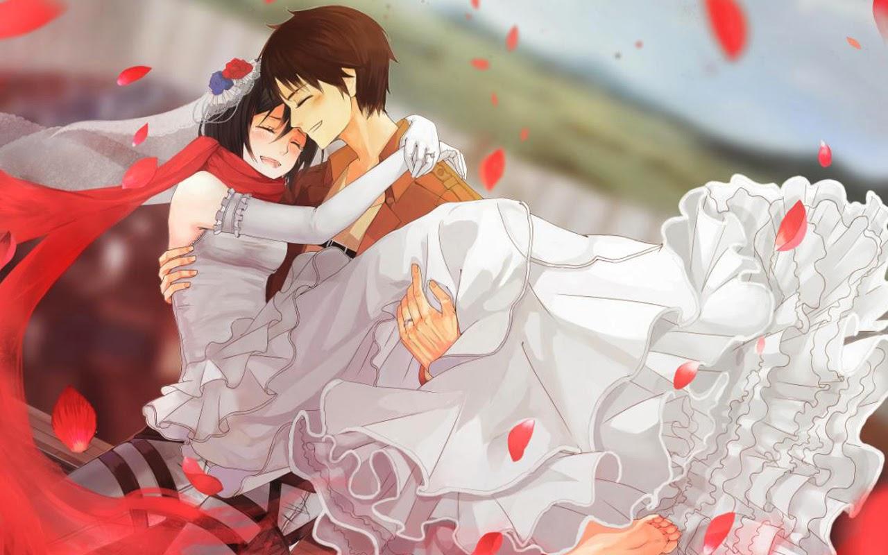 Eren And Mikasa Wedding 99 Hd Wallpaper