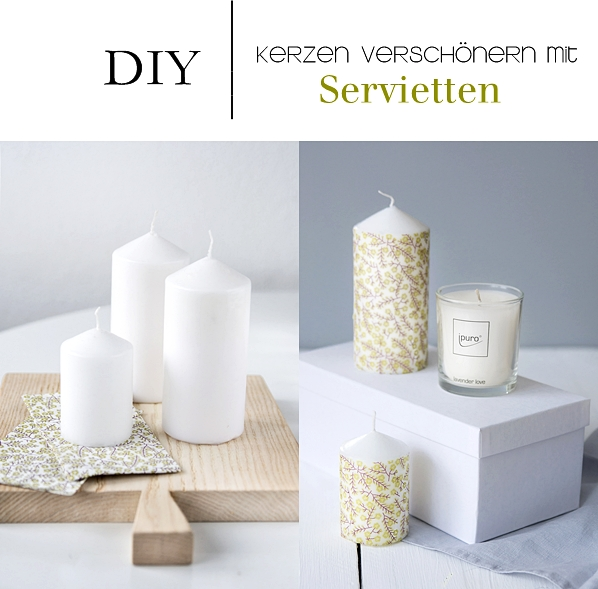 nachmachtipp serviettentechnik auf kerzen ohne kleber sinnenrausch der kreative diy blog. Black Bedroom Furniture Sets. Home Design Ideas