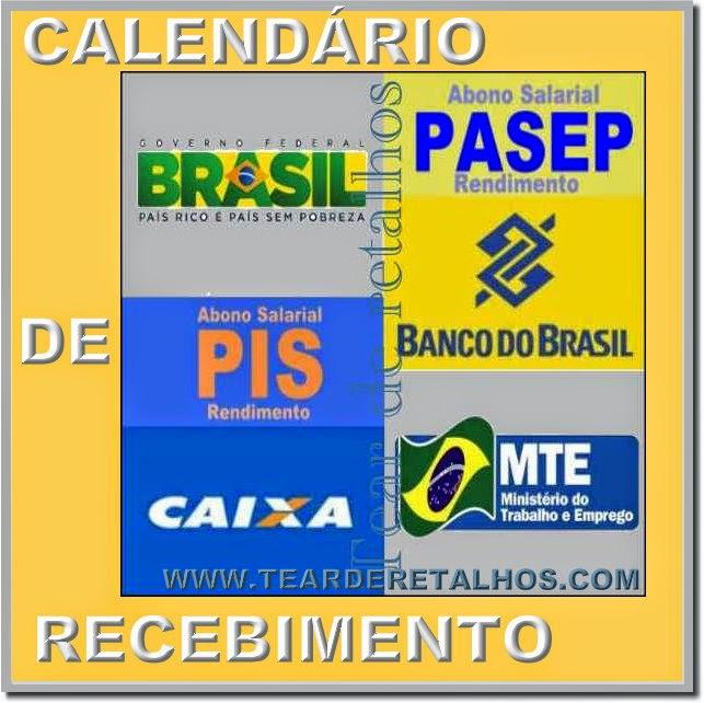 Calendário de recebimento do PIS e do PASEP para o período de 2014/2015 ano base 2013