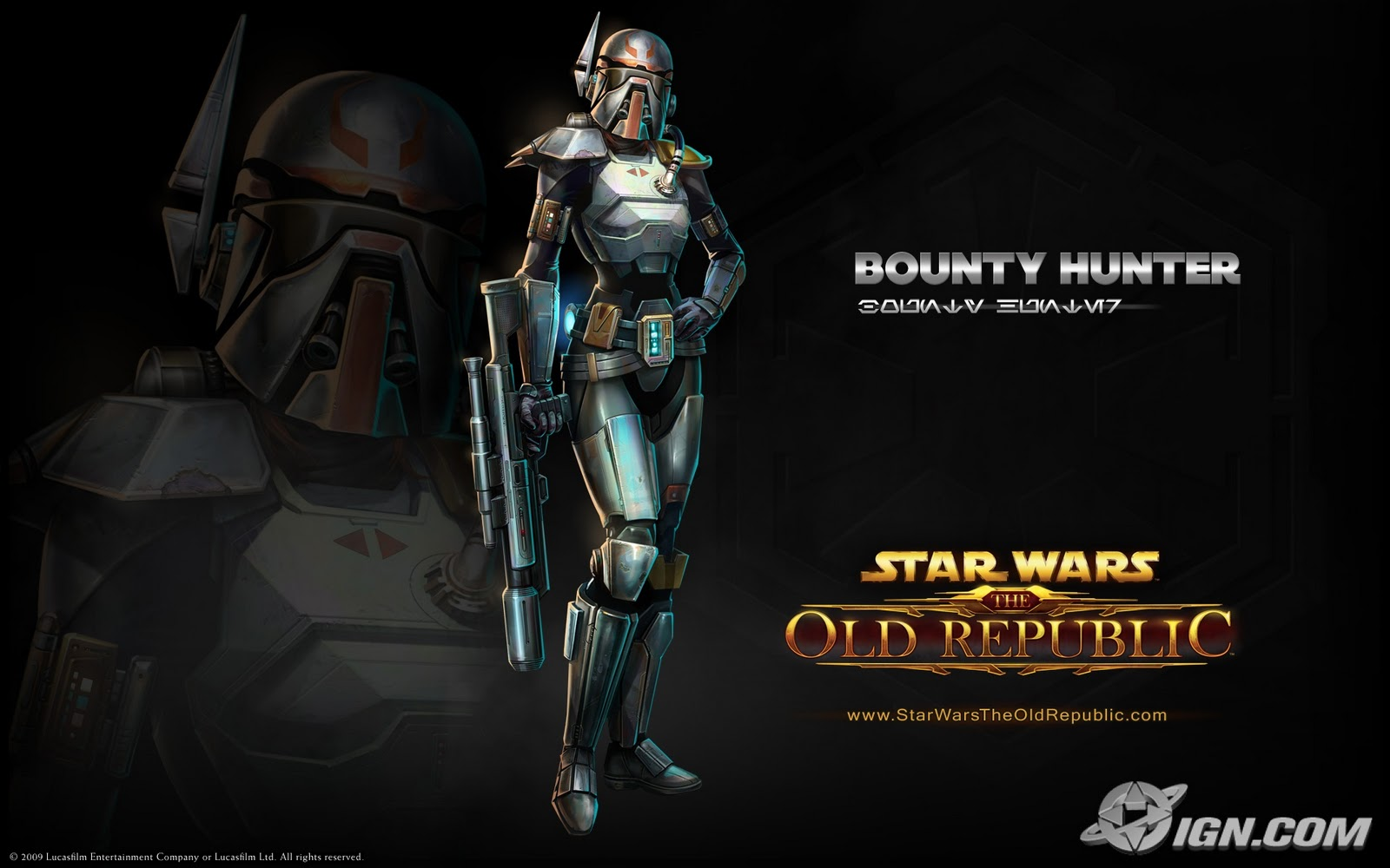 Star Wars Old Republic Bounty Hunter Wallpaper Background 1600 X