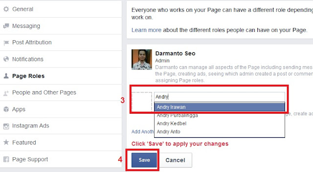 Menambah Admin Pada Fanspage Facebook