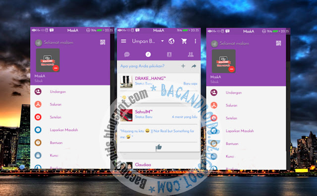 BBM Mod Terbaru V2.13.1.14 Apk Tema Simple Purple