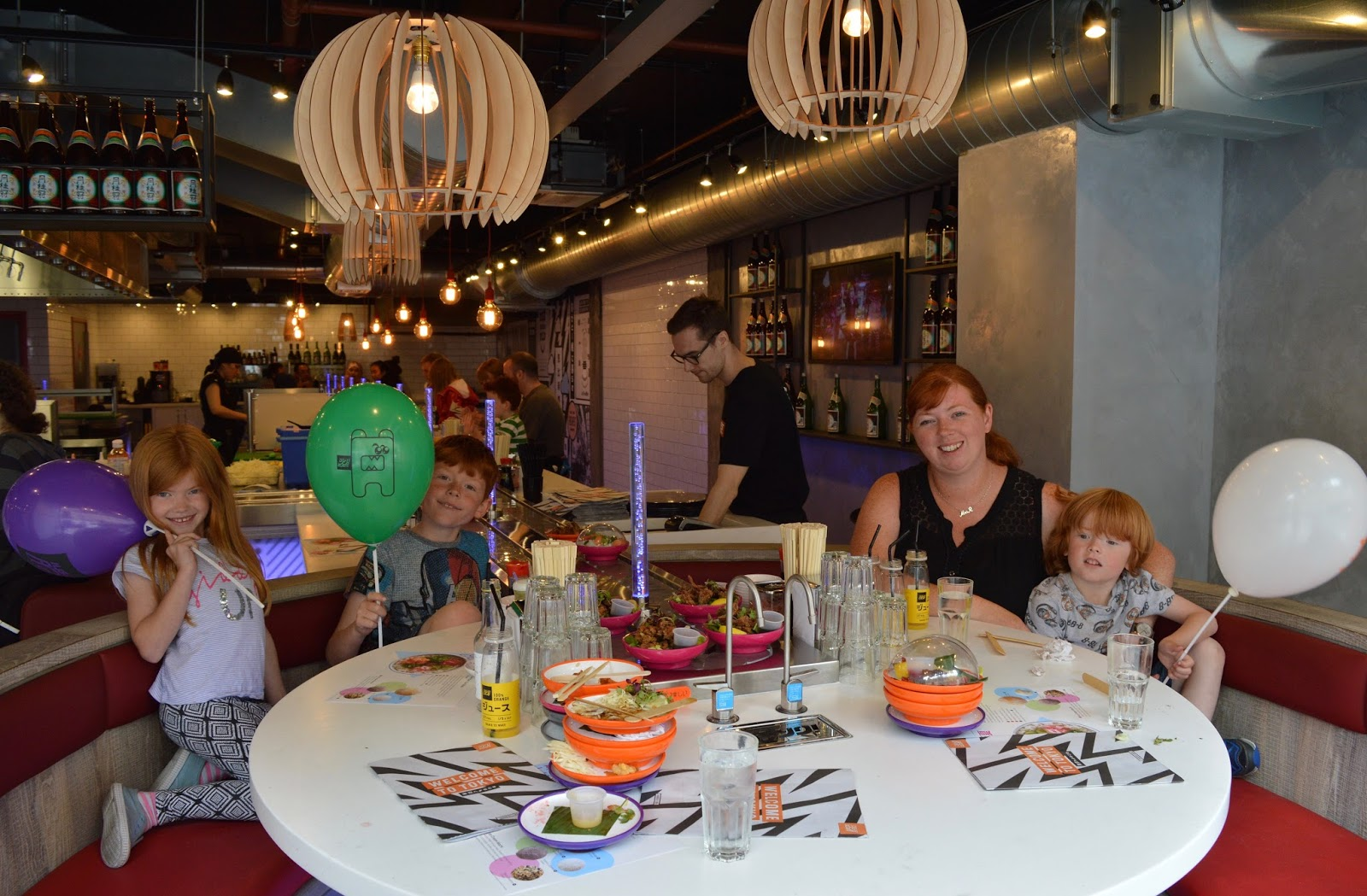 YO! Sushi Newcastle Grainger Street - Kids Menu Review - VIP window booth