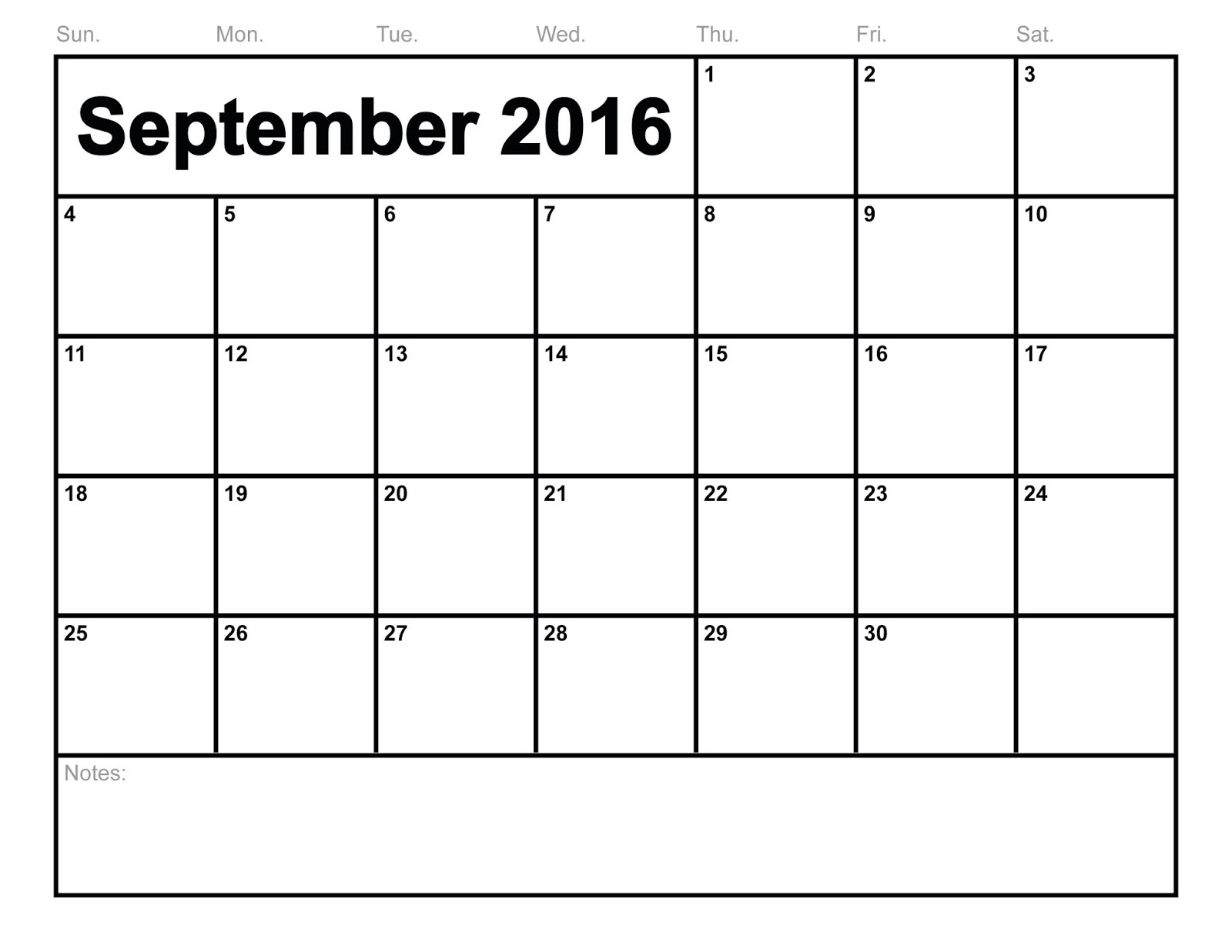 Free September 2016 Printable calendar Download|Monthly Calendar ...