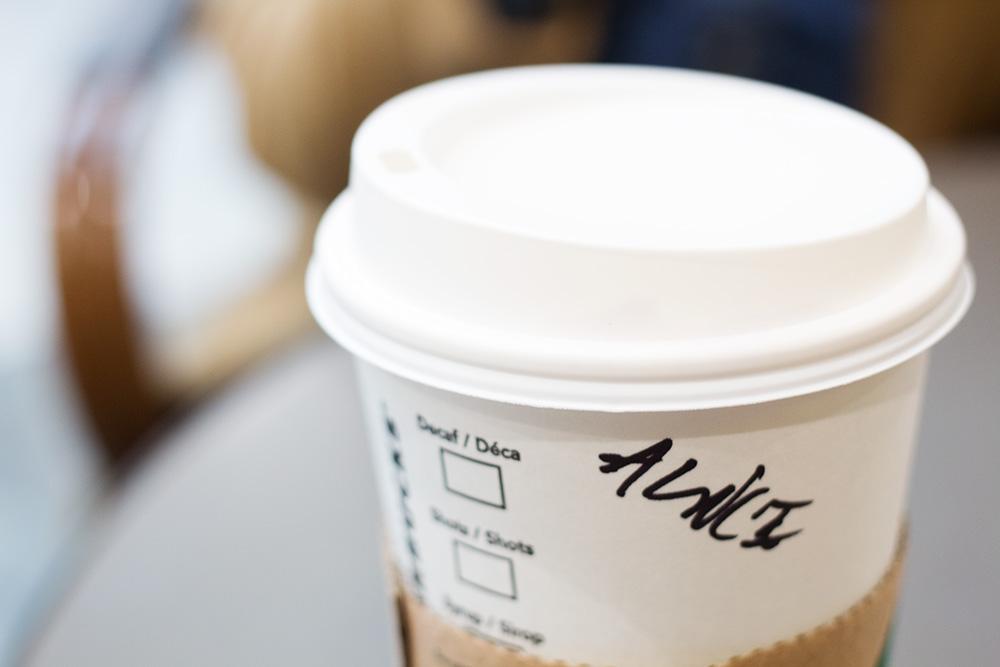 Starbucks takeaway cup