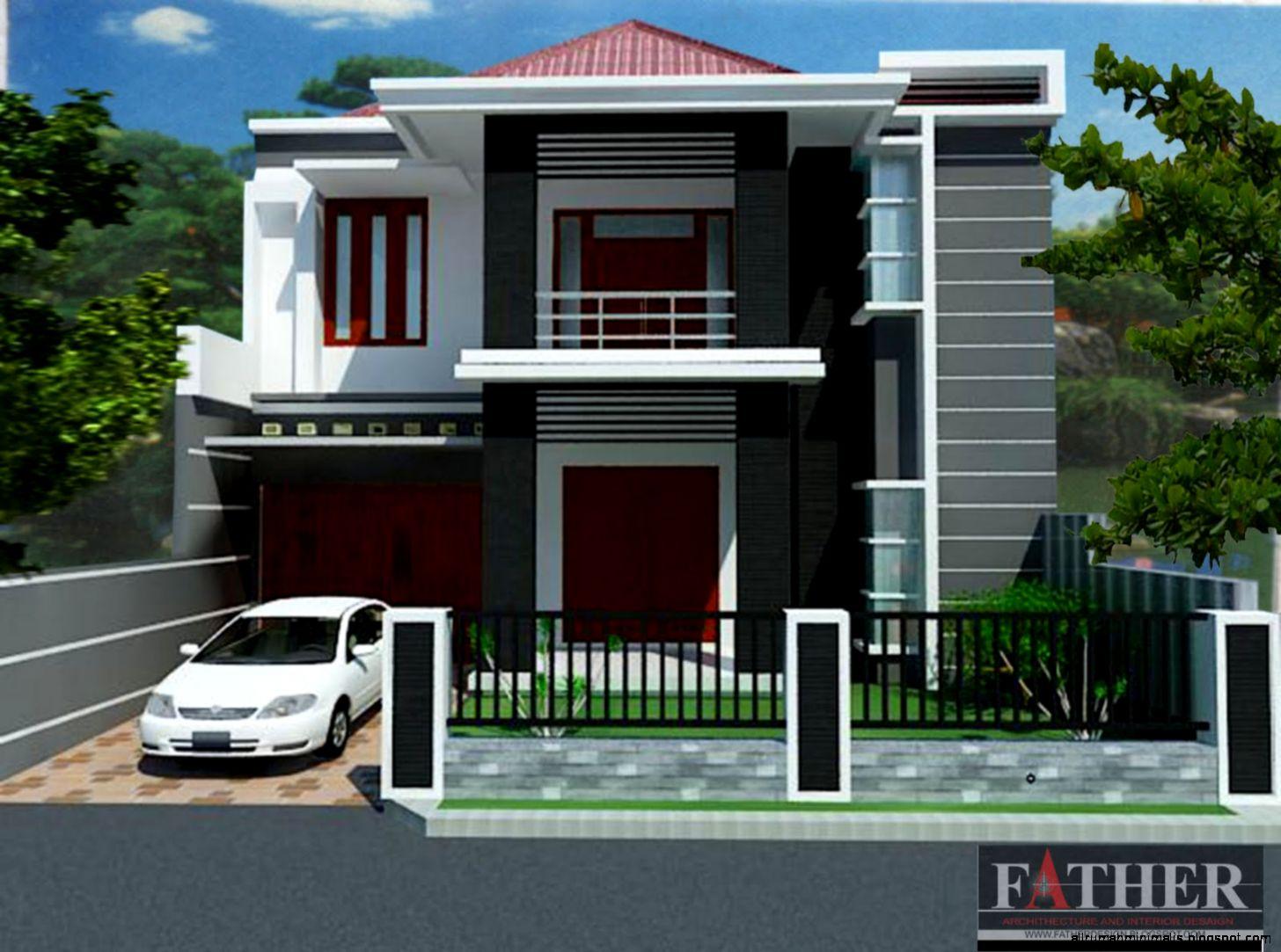 iGambari iDesain Pagar Rumah Minimalis Lantai 2i Terbaru