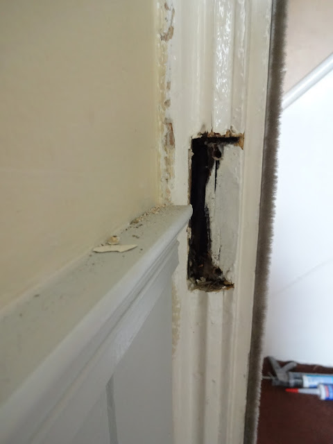 how to fill gap from old latch