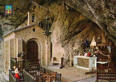 Virgen de Covadonga, postal de Dominguez, 1964
