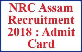 nrc assam admit card