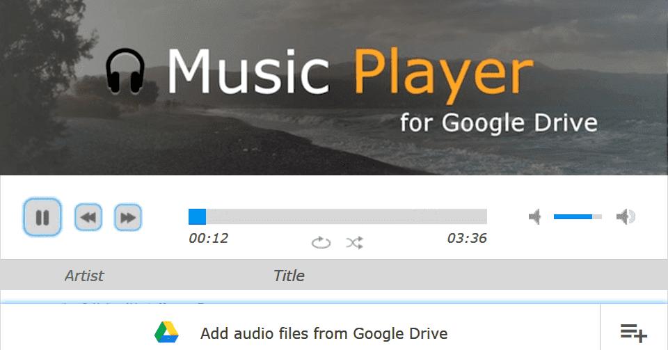 Music Player 網頁播放 Google Drive 音樂檔案,讓雲端硬碟成為個人串流音樂平台 - 逍遙の窩