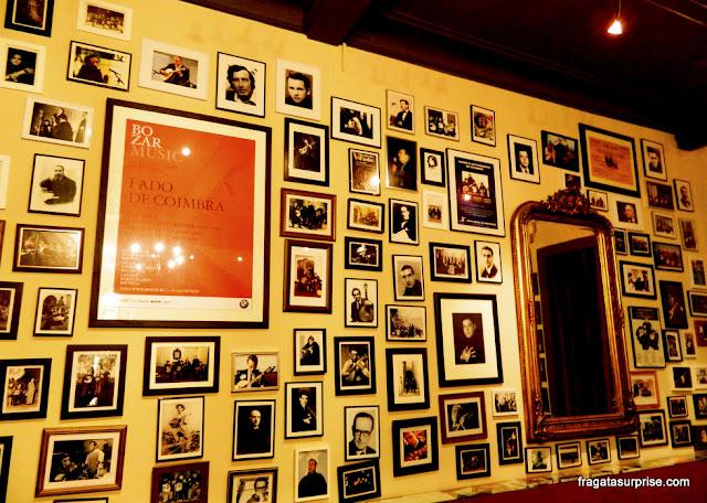 Galeria de memórias no Centro Cultural Fado ao Centro, em Coimbra