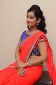 tejaswini sizzling photos in saree-thumbnail-17