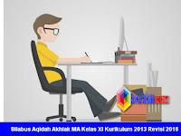 Silabus Aqidah Akhlak MA Kelas XI Kurikulum 2013 Revisi 2016