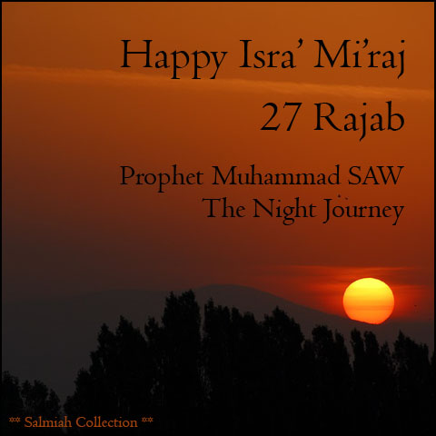 Happy Isra' Mi'raj 27 Rajab