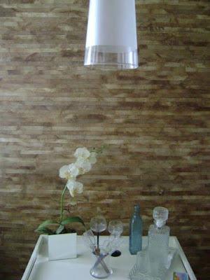 Coadores de café, reciclagem de papel, revestimento de parede