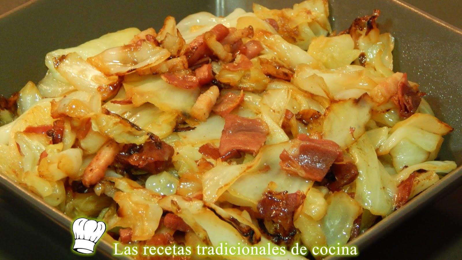 Receta de repollo salteado con beicon y jam n recetas de for Como se cocina la col