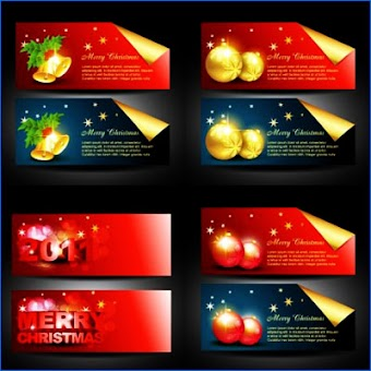 Christmas banner set 15 by Zcool