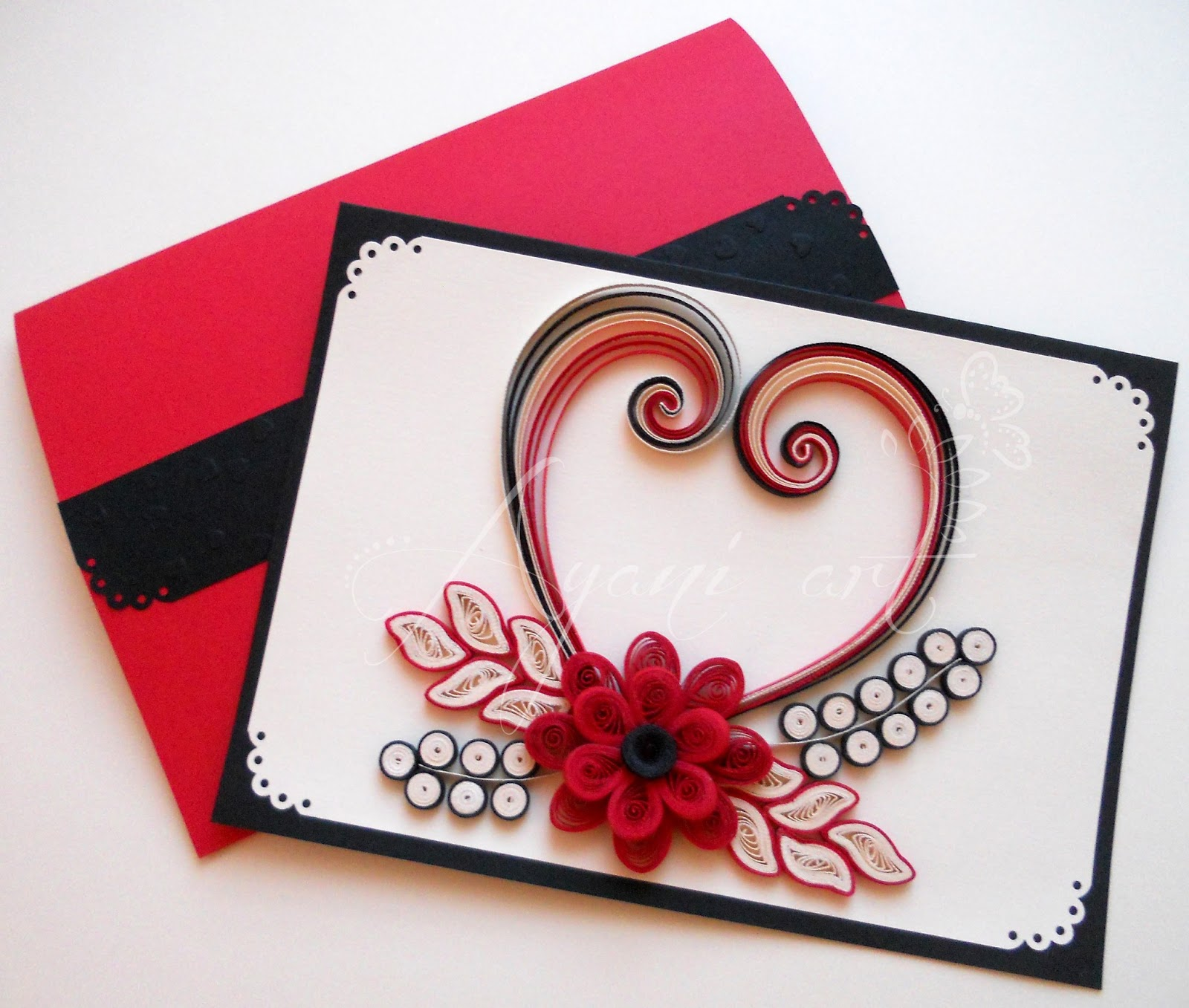 Ayani Art Quilled Valentine Card