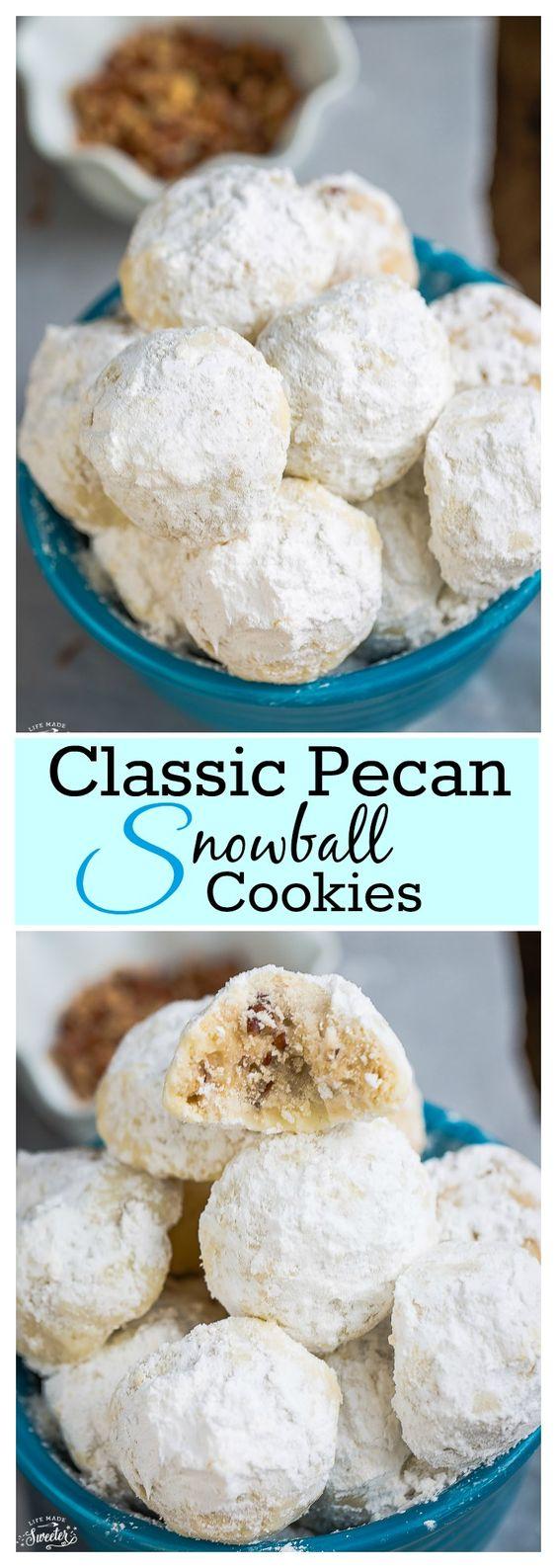 Classic Pecan Snowball Cookies