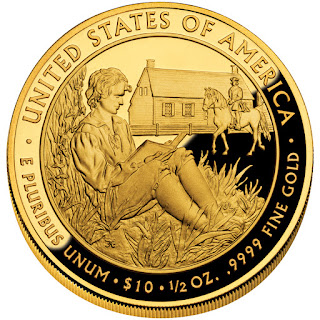 United States Gold Coins President Martin Van Buren's Liberty First Spouse 10 Dollars Gold Coin