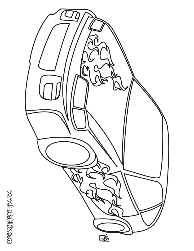 Computer Assignments: car coloring pages