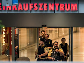 Killing 10 people in a series of attacks in the German capital Munich