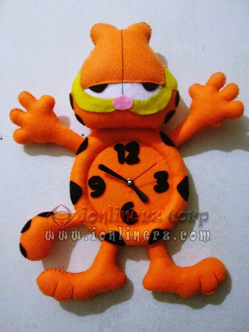 Jam Dinding Flanel Karakter Kartun Boneka Garfield