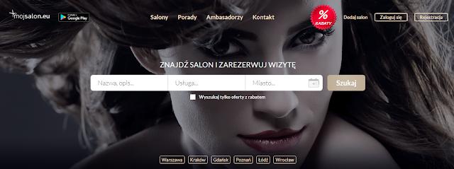 """""""Mój salon"""" wyszukiwarka salonów fryzjerskich i kosmetycznych"""