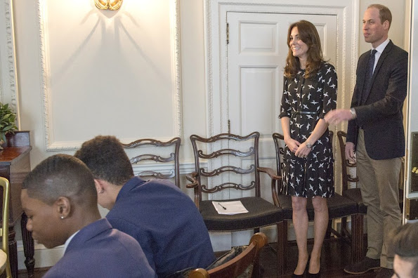 Catherine, Duchess of Cambridge and Prince William, Duke of Cambridge met with Jonny Benjamin and Neil Laybourn at Kensington Palace where they dropped in on a screening of a documentary about Jonny's experience and the #FindMike campaign