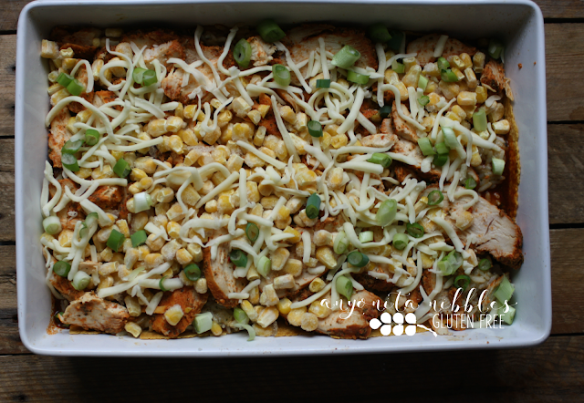 How to make gluten free chicken enchilada casserole by Anyonita Nibbles