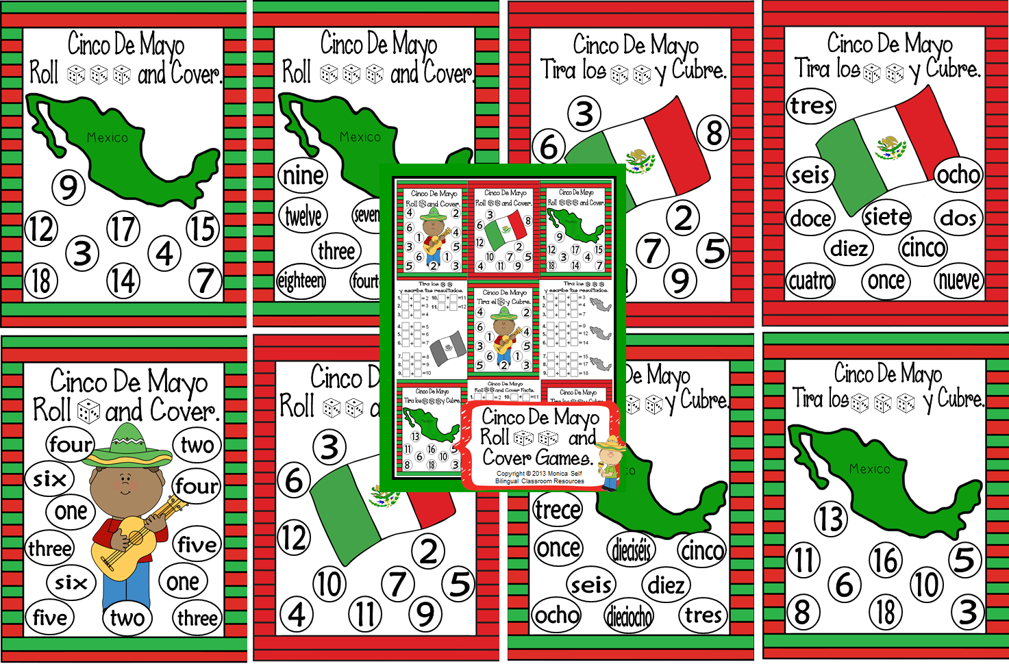 http://www.teacherspayteachers.com/Product/Cinco-De-Mayo-Roll-and-Cover-Games-677544
