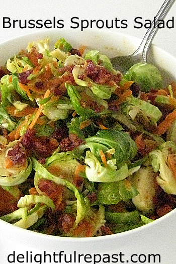 Recipes for November and Beyond (this one - Brussels Sprouts Salad) / www.delightfulrepast.com