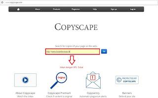 Cara cek tulisan dengan Copyscape