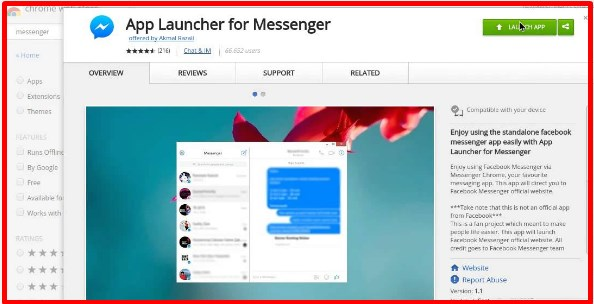 Facebook Messenger Chrome Extension