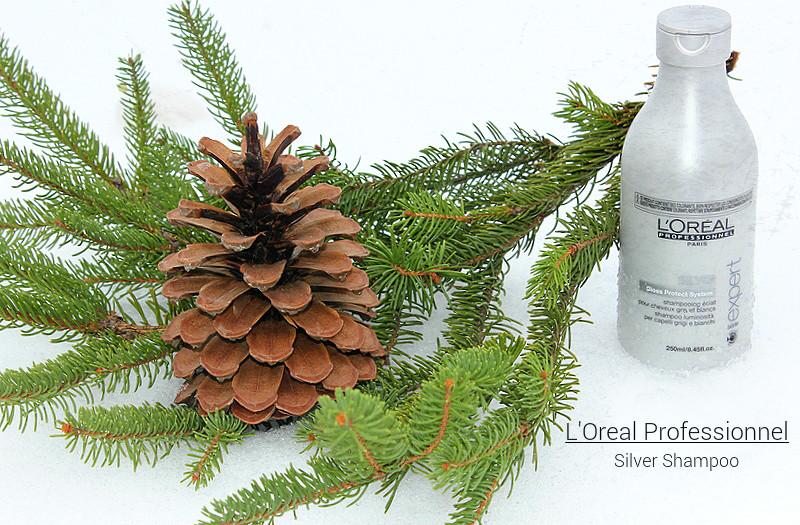 Отзыв: «Фиолетовый» оттеночный шампунь для седых и обесцвеченных волос L'Oreal Professionnel Serie Expert Silver.
