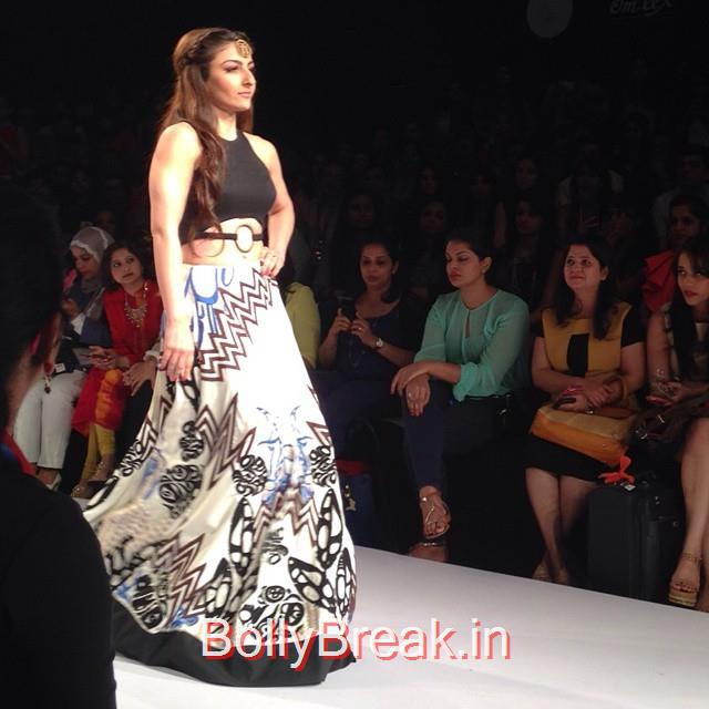 soha ali khan closed the show at babita malkani @lakmefashionwk.