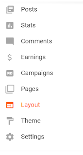 Layout option in Blogger