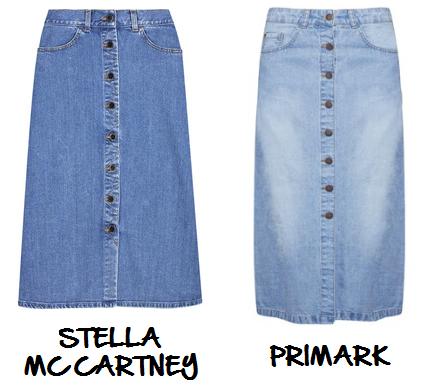 Clon falda denim botones Stella McCartney Primark