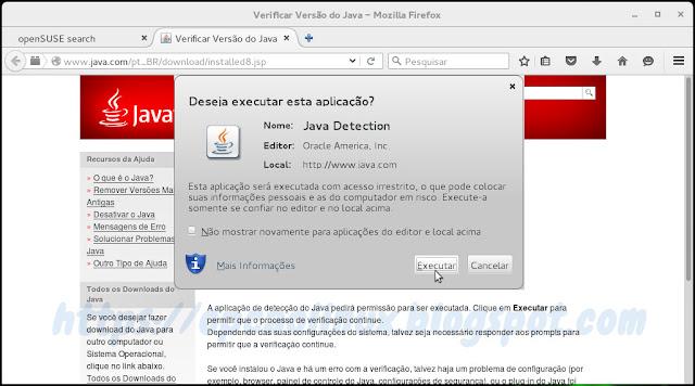 Executar a aplicação Java