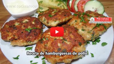 Hamburguesas de pollo casera  Aprende a preparar y disfrutar de una hamburguesa de calidad hecha por ti mismo, verdaderamente sencillo, así que prepárate para saborear una auténtica hamburguesa de pollo.