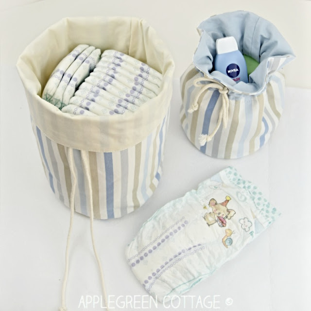 fabric basket pattern- nursery storage